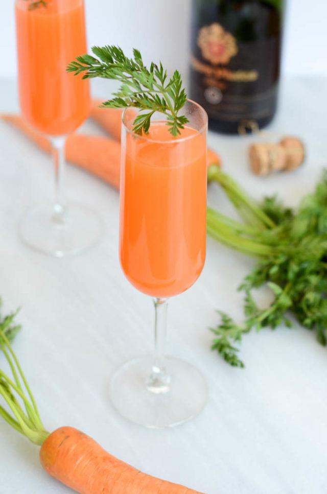 Sparkling Carrot Mimosas | CaliGirlCooking.com
