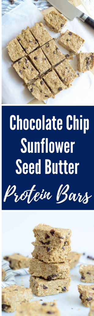 Chocolate Chip-Sunflower Seed Butter Protein Bars | CaliGirlCooking.com