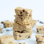 Chocolate Chip Sunflower Seed Butter Protein Bars | CaliGirlCooking.com