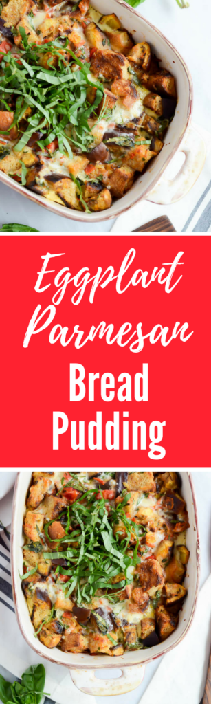 Eggplant Parmesan Bread Pudding | CaliGirlCooking.com
