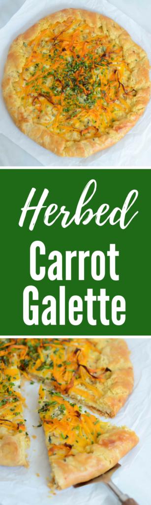 Herbed Carrot Galette | CaliGirlCooking.com