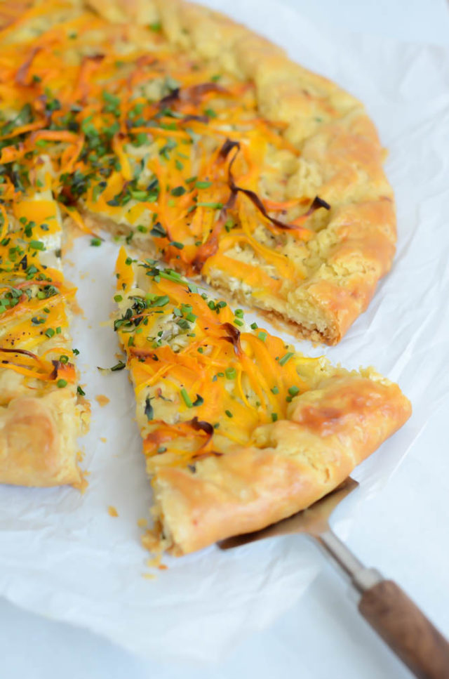 Herbed Carrot Galette | CaliGirlCooking.com