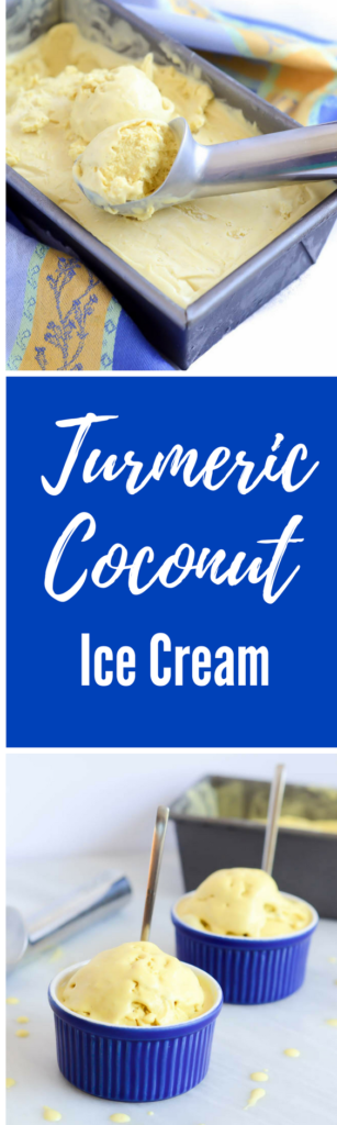 Turmeric Coconut Ice Cream (Vegan and Dairy-Free!) | CaliGirlCooking.com