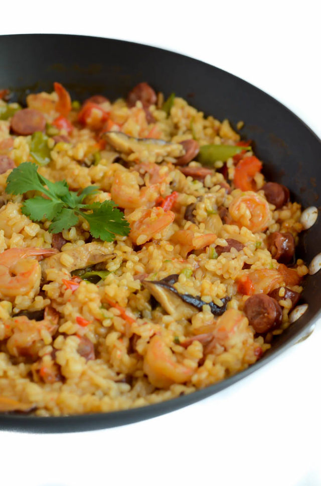 Up-close photo of the most delicious Asian Paella you've ever tasted!