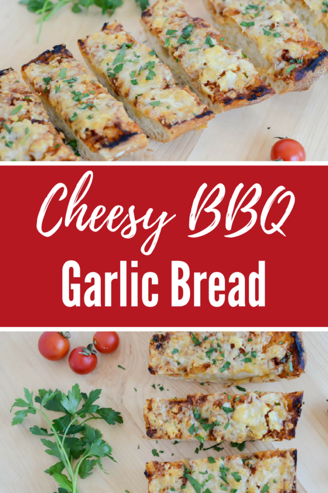 Cheesy BBQ Garlic Bread | CaliGirlCooking.com