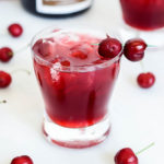 A head-on shot of this in-season Cherry Bourbon Breeze, which can easily be made non-alcoholic!