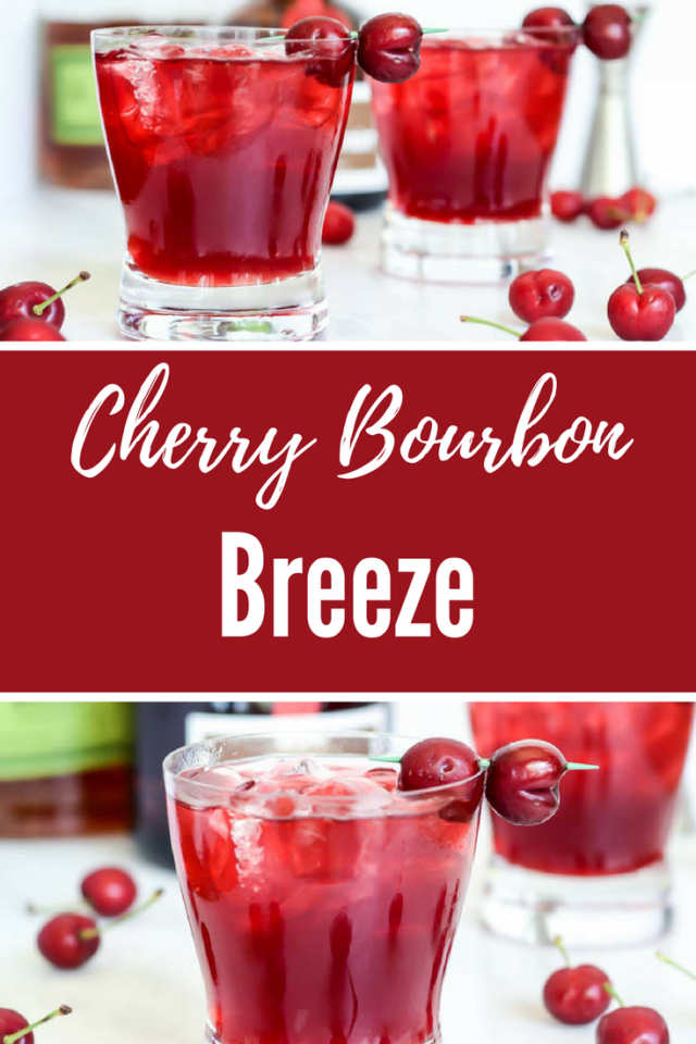 Cherry Bourbon Breeze (plus a Mocktail Option!) | CaliGirlCooking.com