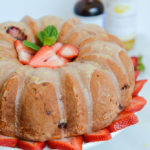 Fresh Strawberry Vanilla Bundt Cake with Lemon Glaze | CaliGirlCooking.com