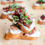 Herbed Cherry and Ricotta Crostini | CaliGirlCooking.com
