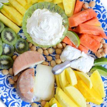 Tropical Fruit and Cheese Platter | CaliGirlCooking.com