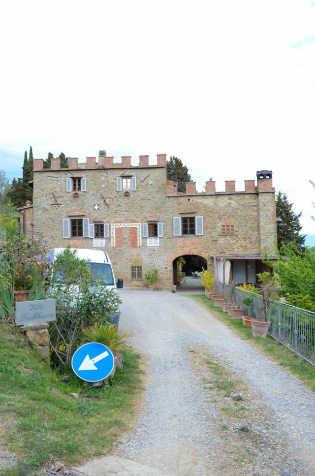 The beautiful, historic Villa Fabbroni nestled in the hills of Greve in Chianti in Tuscany.