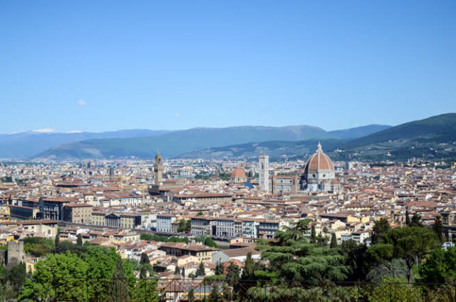 The view of Florence from San Miniato al Monte.