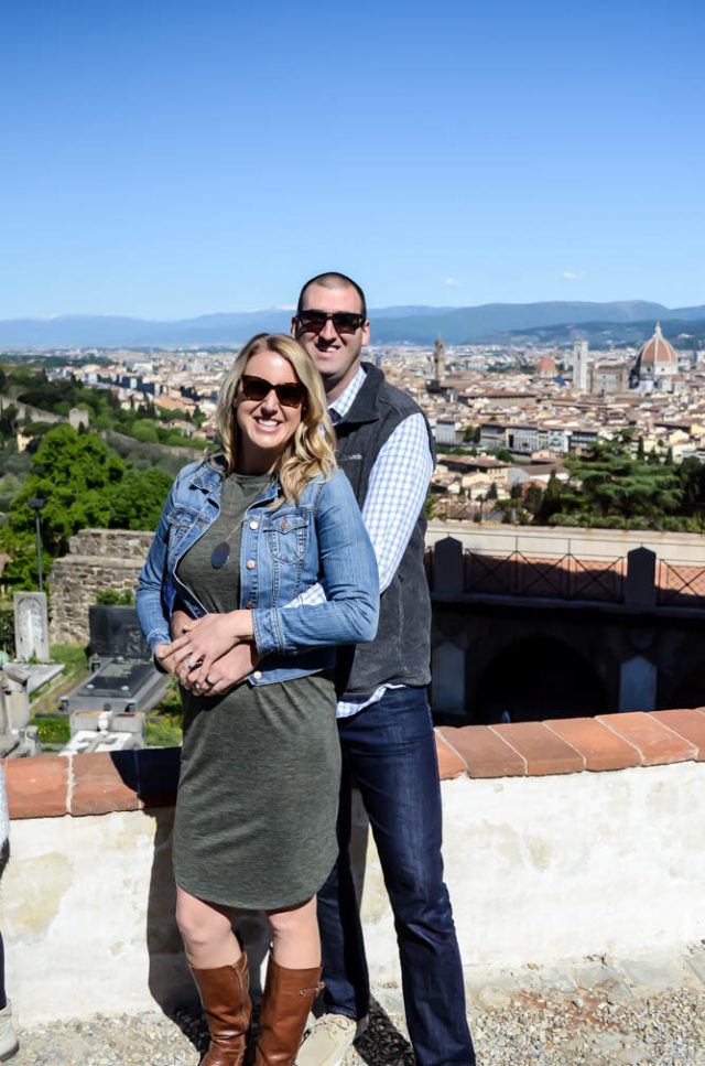 Me and the hubs in front of the beautiful Florence view at San Miniato al Monte.