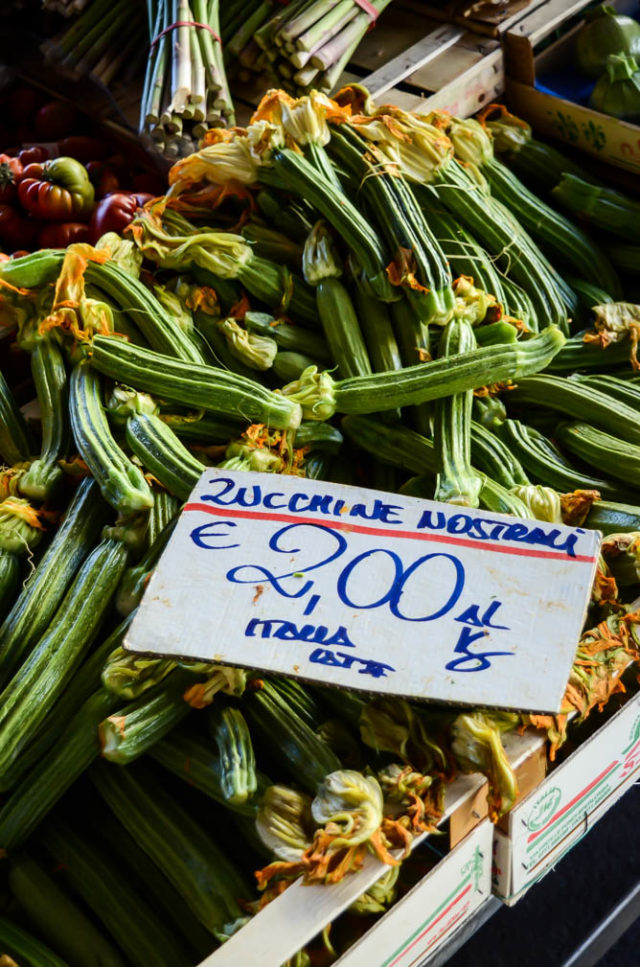 Beautiful fresh produce at the Sant' Ambrogio market in Florence.
