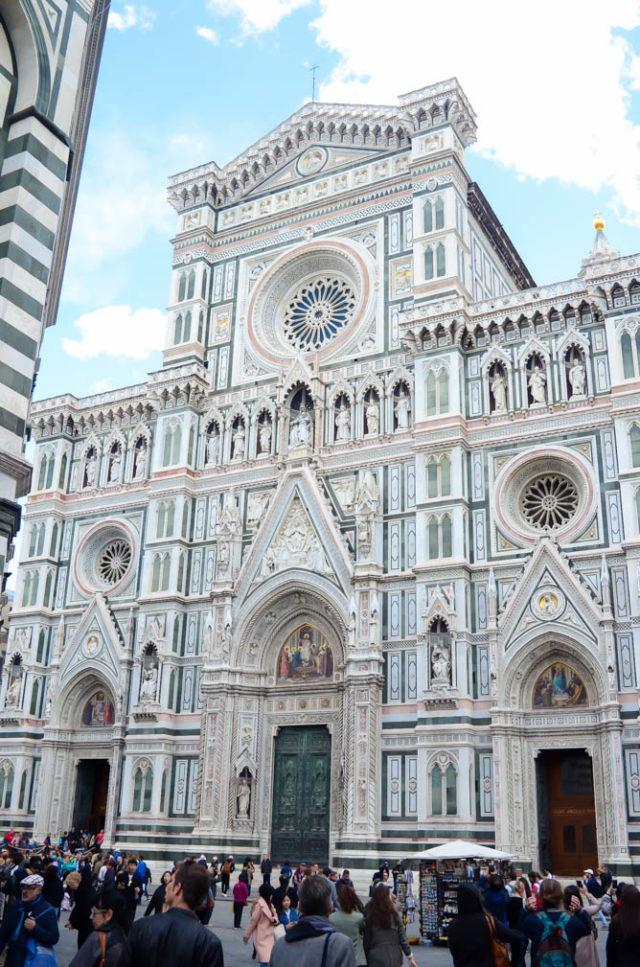 Chiesa di Santa Maria del Fiore next to the Duomo in Florence, Italy.