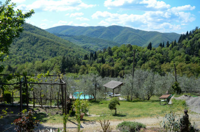 A stunning view of the Tuscan countryside from Villa Fabbroni in Greve.