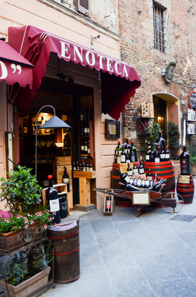 The Enoteca where we did our wine tasting in Montepulciano, Tuscany.