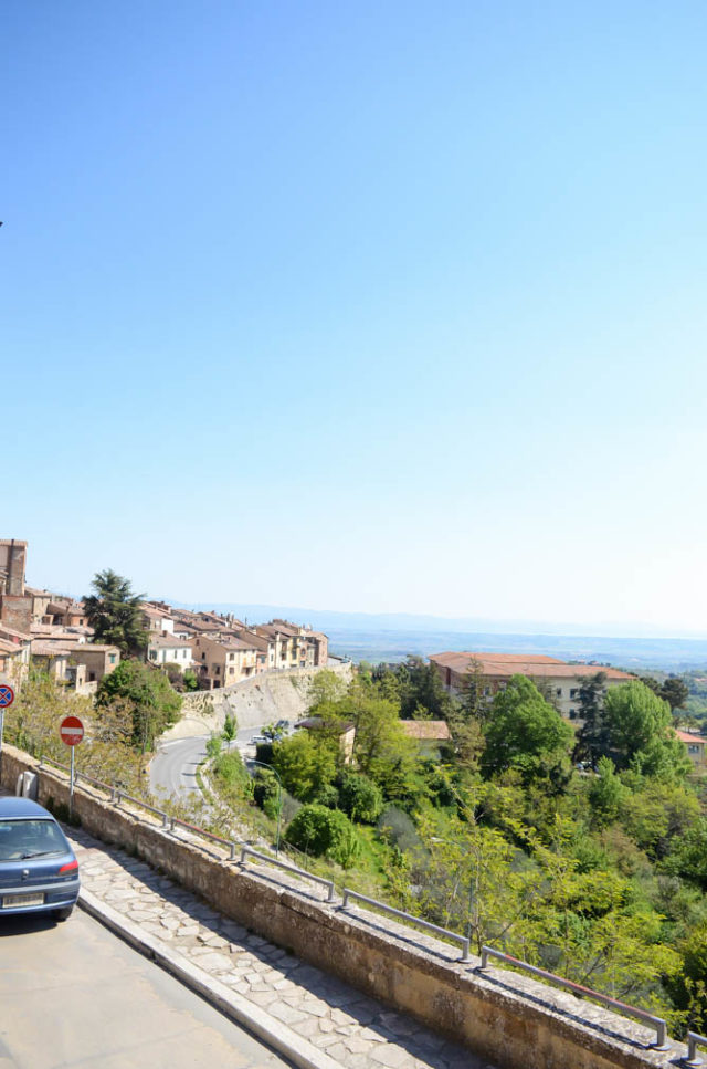 The views outside of Montepulciano.