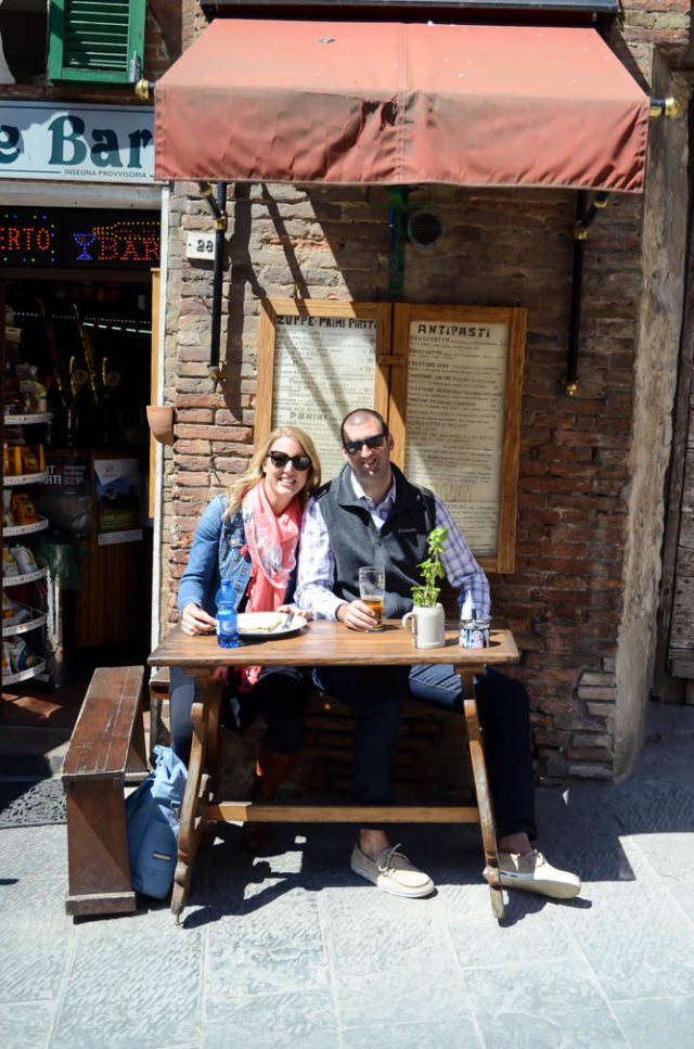 Stopping for a Nutella crepe while wandering around Montepulciano!
