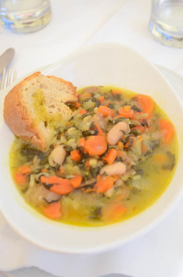 Ribollita (Tuscan Bread Soup) at Caffe Poliziano, Montepulciano