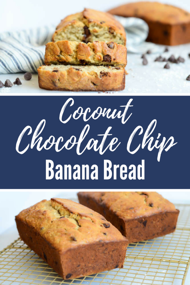Coconut Chocolate Chip Banana Bread | CaliGirlCooking.com