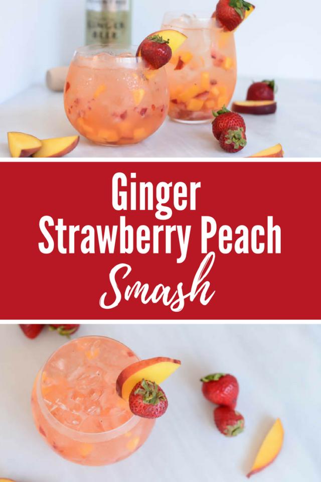 Ginger Strawberry Peach Smash | CaliGirlCooking.com