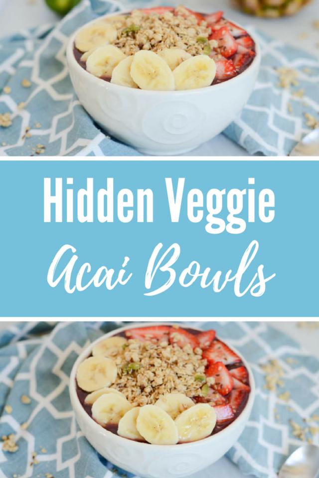 Hidden Veggie Acai Bowls | CaliGirlCooking.com