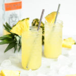 A refreshing Pineapple Orgeat Fizz that can be made with or without alcohol. The perfect drink for summer!