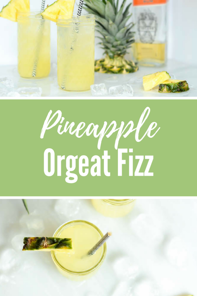 Pineapple Orgeat Fizz | CaliGirlCooking.com