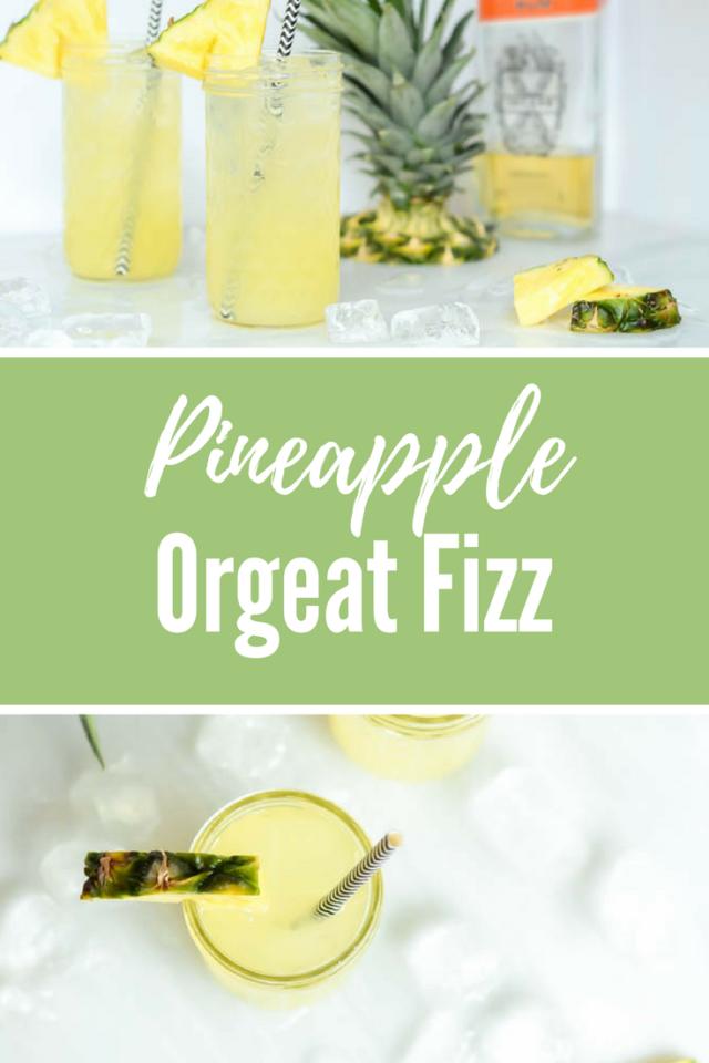 Pineapple Orgeat Fizz | CaliGirlCooking.com