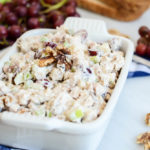 A big dish of Protein-Packed Healthy Chicken Waldorf Salad is the perfect no-cook dish to serve in the summer heat.