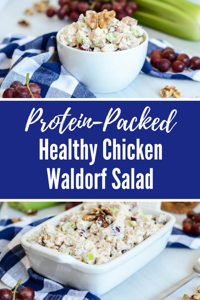 Protein-Packed Healthy Chicken Waldorf Salad | CaliGirlCooking.com