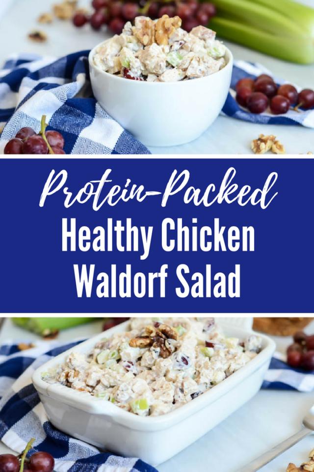 Protein-Packed Healthy Chicken Waldorf Salad | CaliGirlCooking.com