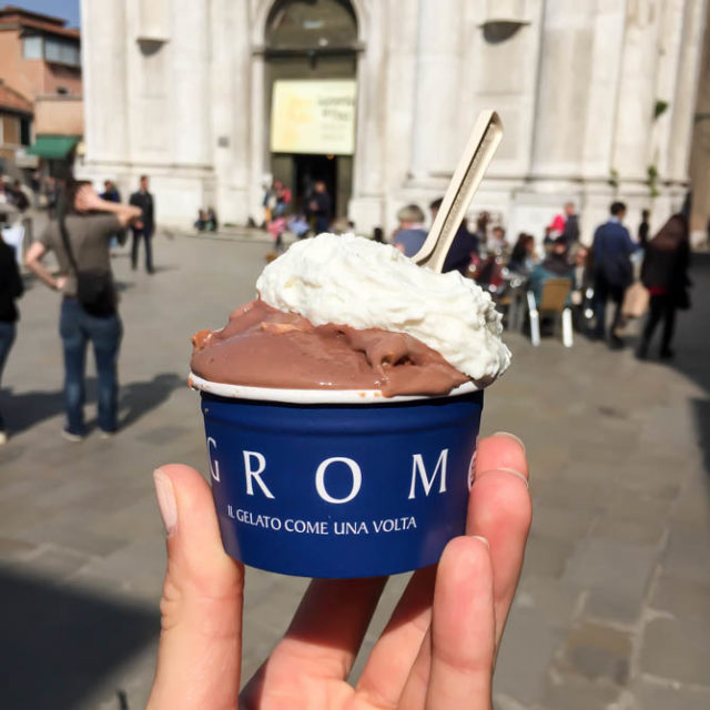 Every afternoon in Venice requires a big scoop of gelato!