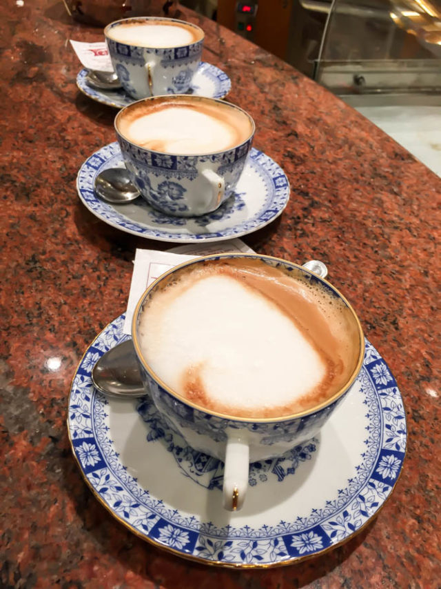 Cappucinos are the way to go when in Venice!