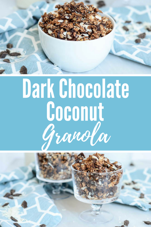 Dark Chocolate Coconut Granola | CaliGirlCooking.com