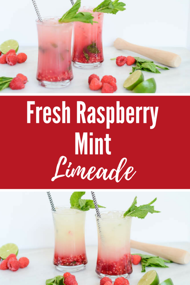 Fresh Raspberry Mint Limeade | CaliGirlCooking.com