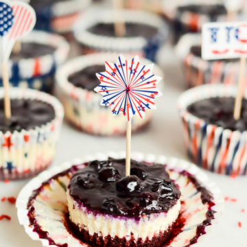 Patriotic Cheesecake Bites | CaliGirlCooking.com