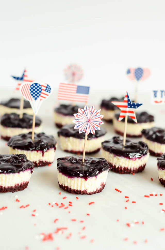 These Patriotic Cheesecake Bites are the perfect fun, festive dessert for Fourth of July!