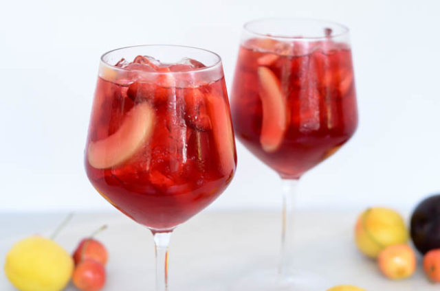 This Virgin Stone Fruit Sangria is filled with the season's best fruit with a zesty kick from ginger beer.