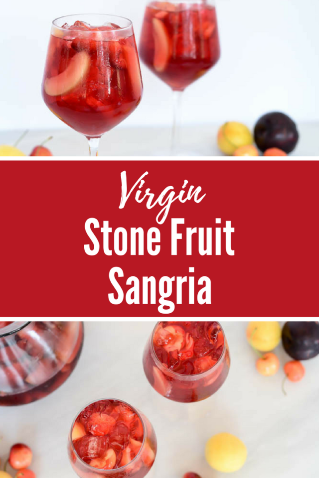 Virgin Stone Fruit Sangria | CaliGirlCooking.com
