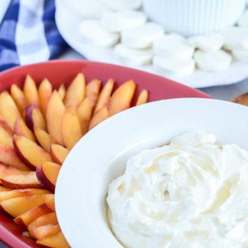 Honeyed Ricotta Goat Cheese Spread with Fresh Nectarines | CaliGirlCooking.com