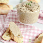 A fresh baguette is the perfect accompaniment to this Creamy Mushroom Pate.