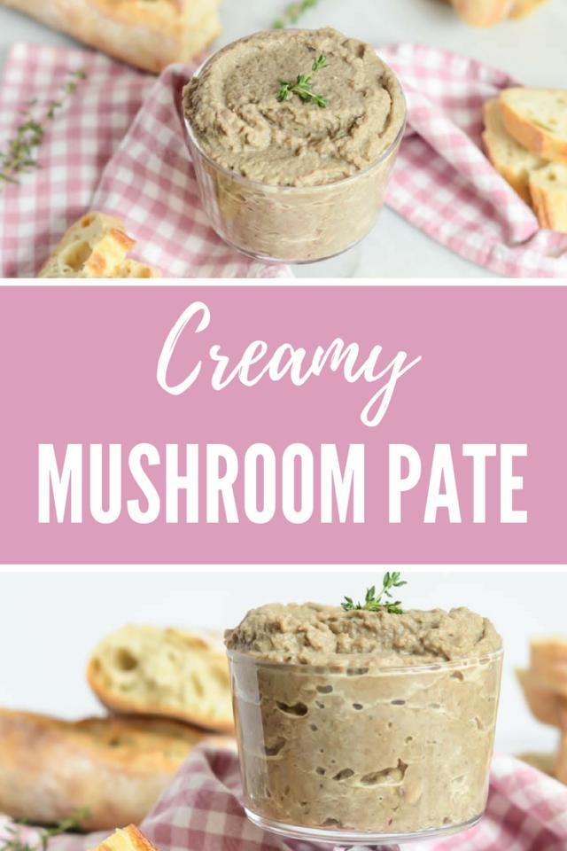 Creamy Mushroom Pate | CaliGirlCooking.com
