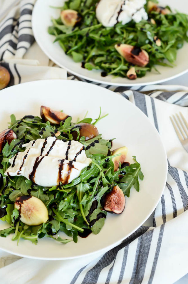 Serve this Fresh Fig and Burrata Salad with Toasted Hazelnuts at your next get-together and it's sure to be a huge hit!