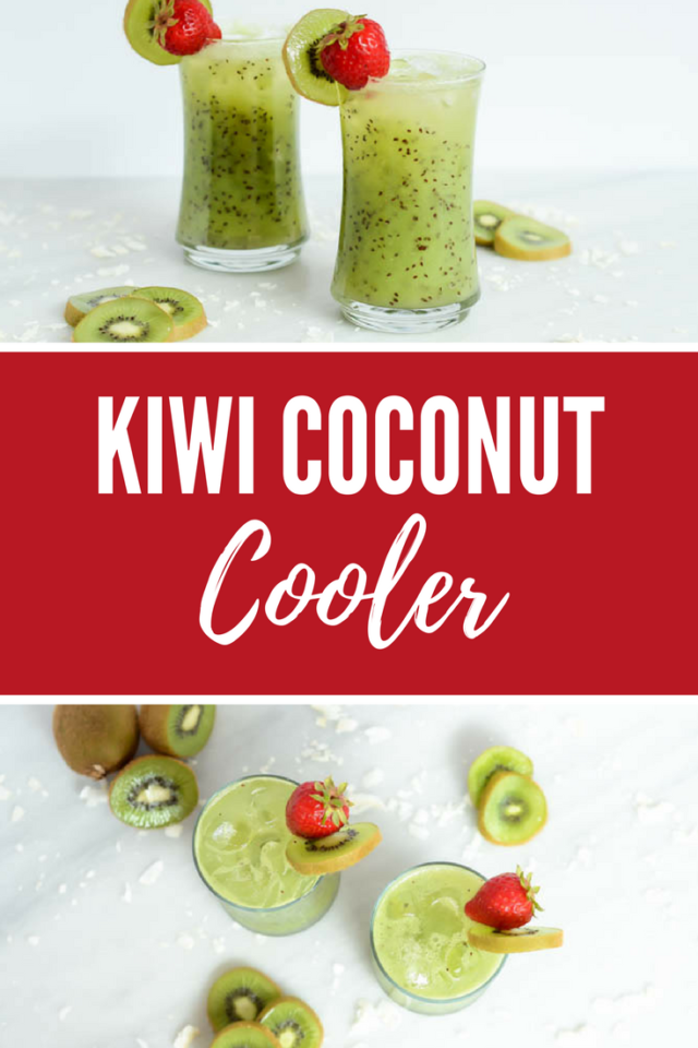 Kiwi Coconut Cooler | CaliGirlCooking.com