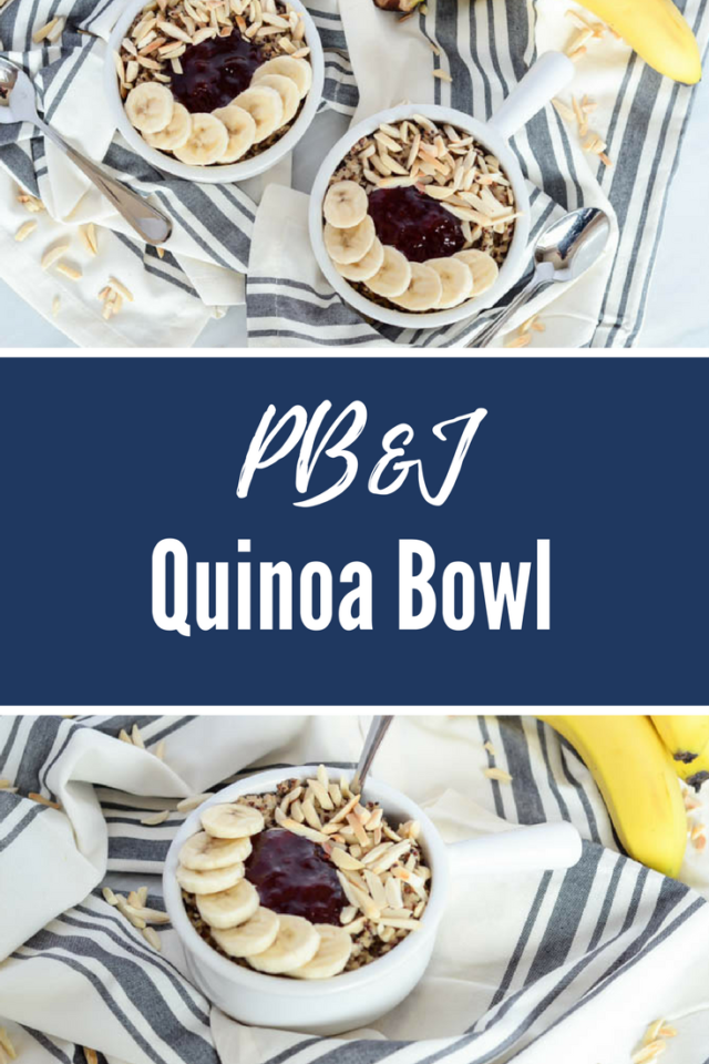 PB&J Quinoa Bowl | CaliGirlCooking.com
