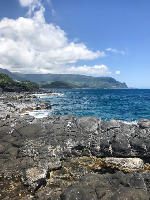 The beautiful view from Queen's Bath, Princeville, Kauai