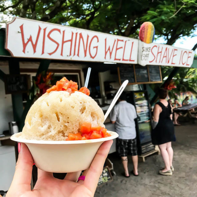 Wishing Well Shave Ice is a must stop if you're ever in Hanalei.
