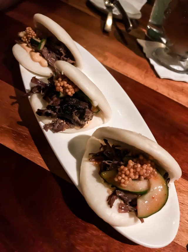 The Short Rib Bao appetizer from Keoki's, Poipu, Kauai.